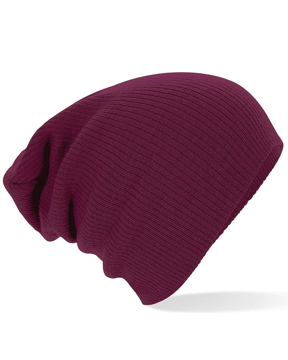 Beechfield Slouch Beanie Hat in Burgundy (Product Code: B461)