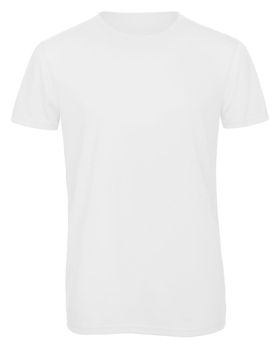 B&C Mens Inspire Triblend T-Shirt in White (Product Code: TM055)