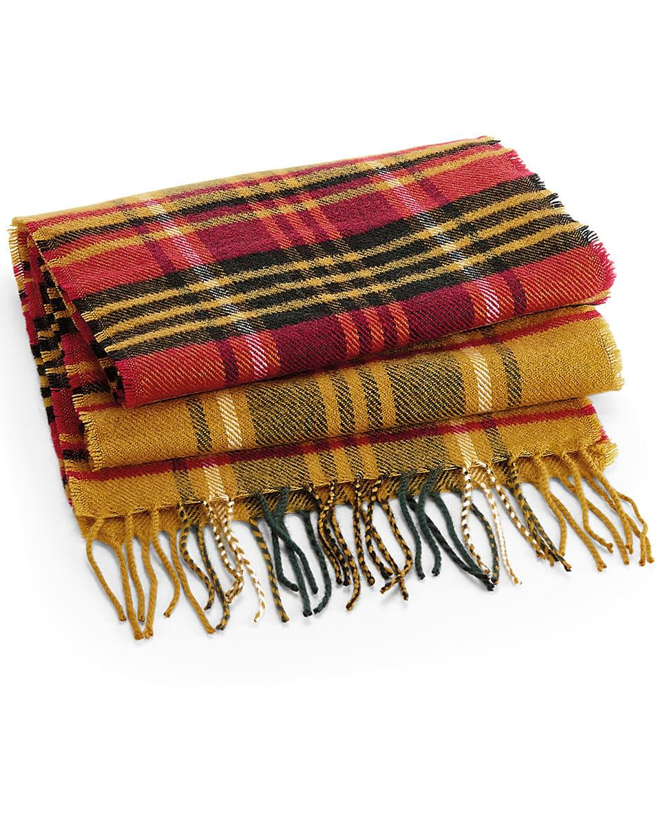Beechfield Classic Check Scarf in Mustard Check (Product Code: B489)