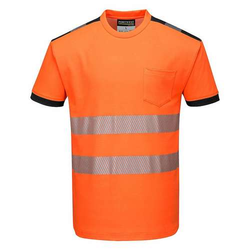 Portwest T181 PW3 Hi-Viz Short-Sleeve T-Shirt
