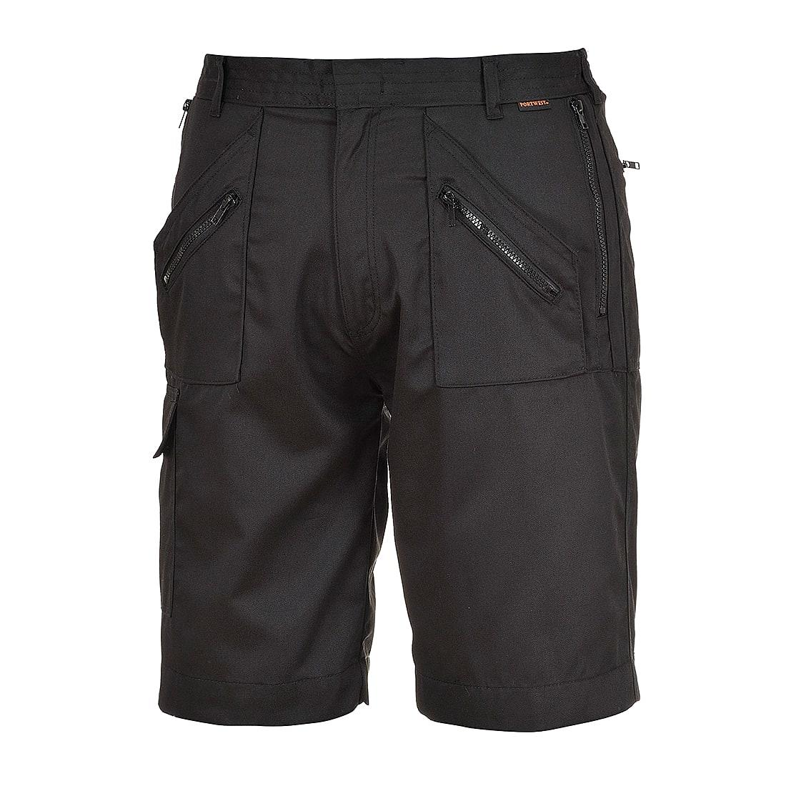 Portwest Action Shorts in Black (Product Code: S889)
