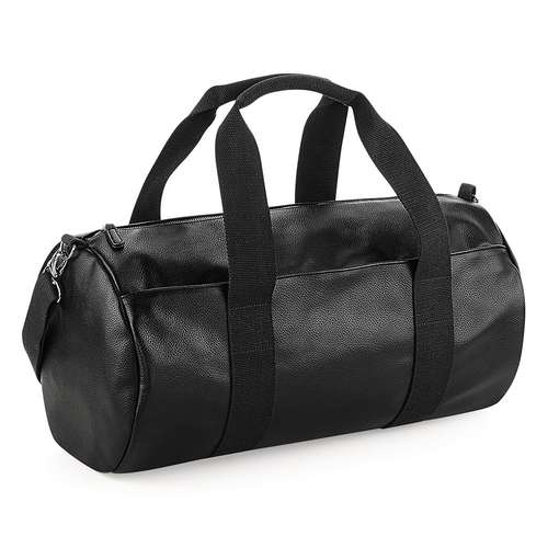 Bagbase Faux Leather Barrel Bag