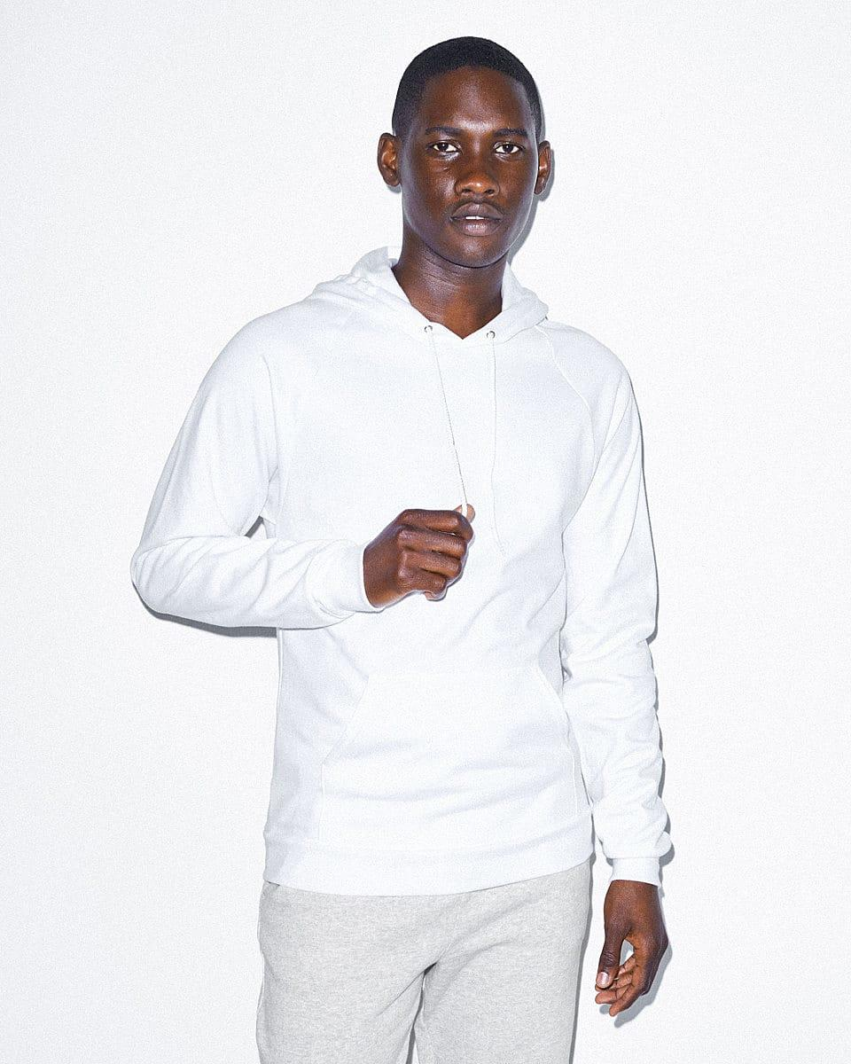 American Apparel Adult Pullover Hoodie in White (Product Code: 5495W)