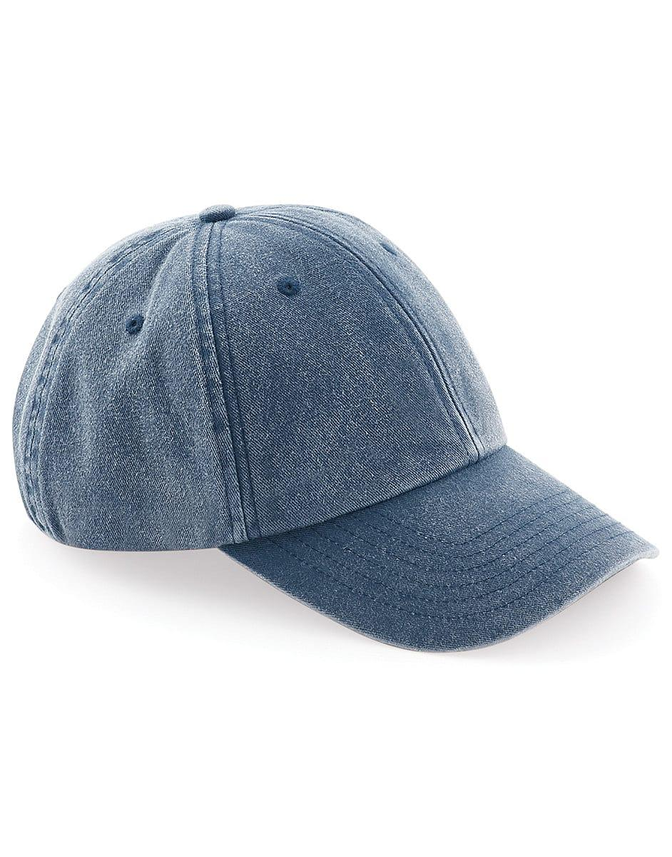 Beechfield Low Profile Vintage Cap in Vintage Denim (Product Code: B655)
