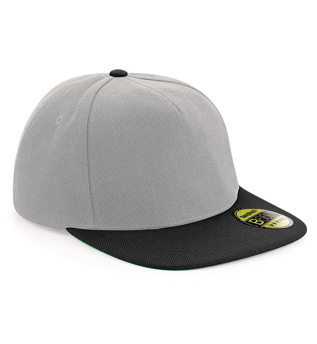 Beechfield Original Flat Peak Snapback in Grey / Black (Product Code: B660)