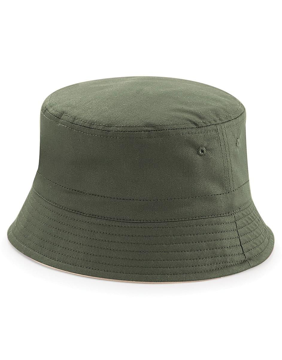 Beechfield Reversible Bucket Hat in Olive / Stone (Product Code: B686)