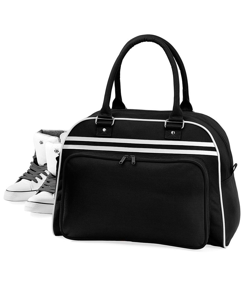 Bagbase Retro Bowling Bag in Black / White (Product Code: BG75)