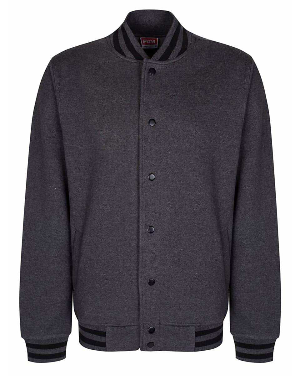 FDM Campus Jacket in Charcoal / Black (Product Code: FV003)