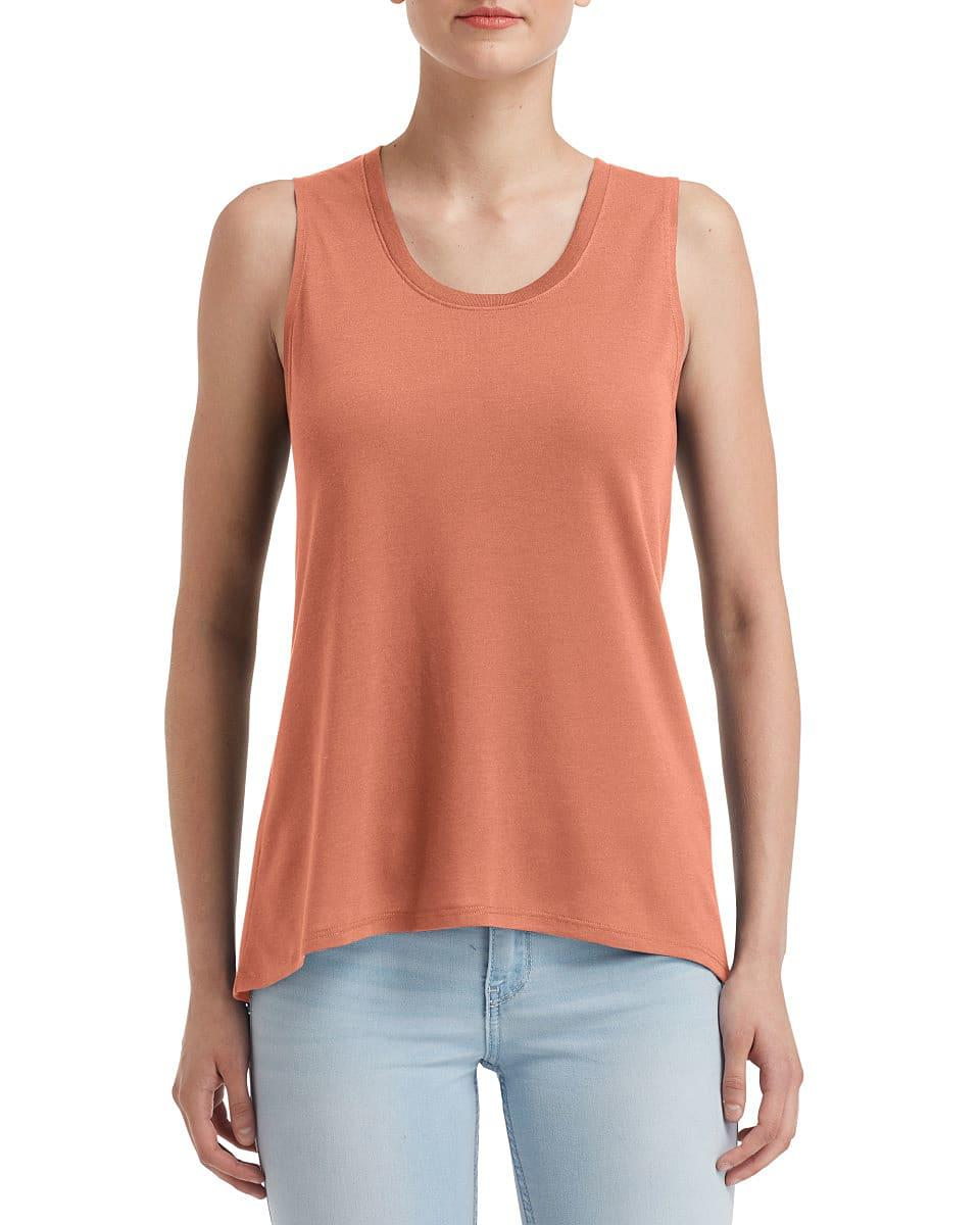 Anvil Womens Freedom Sleeveless T-Shirt in Terracotta (Product Code: 37PVL)