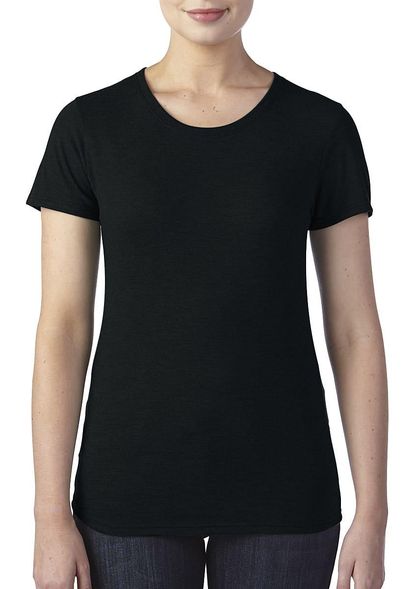 Anvil Womens Triblend T-Shirt in Black (Product Code: 6750L)
