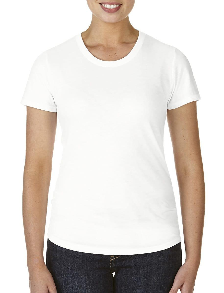 Anvil Womens Triblend T-Shirt in White (Product Code: 6750L)