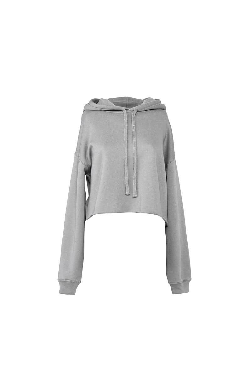 Bella+Canvas Womens Cropped Fleece Hoodie in Storm Grey (Product Code: BE7502)