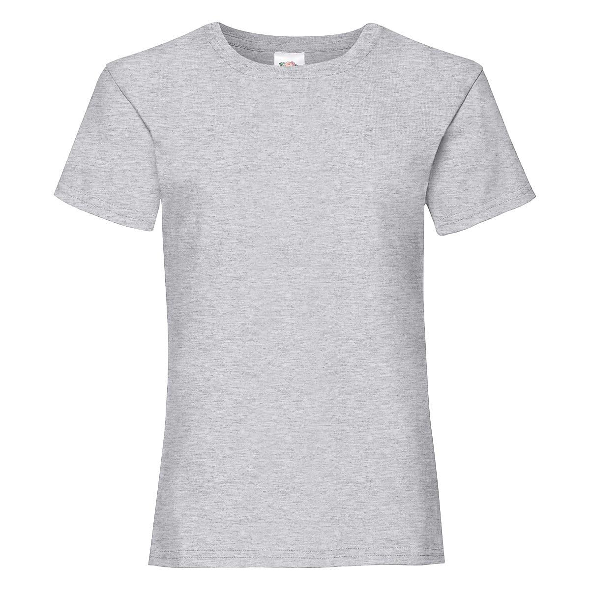 Fruit Of The Loom Girls Valueweight T-Shirt in Heather Grey (Product Code: 61005)