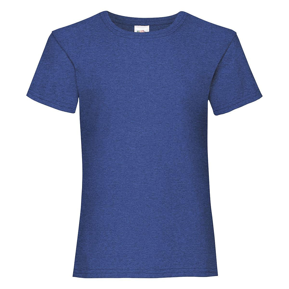 Fruit Of The Loom Girls Valueweight T-Shirt in Retro Heather Royal (Product Code: 61005)