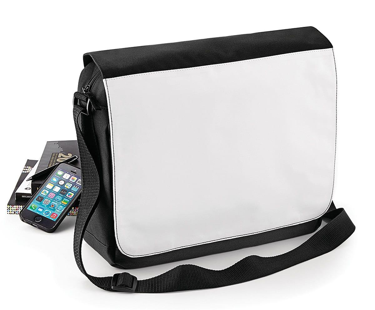 Bagbase Sublimation Messenger Bag in Black (Product Code: BG965)