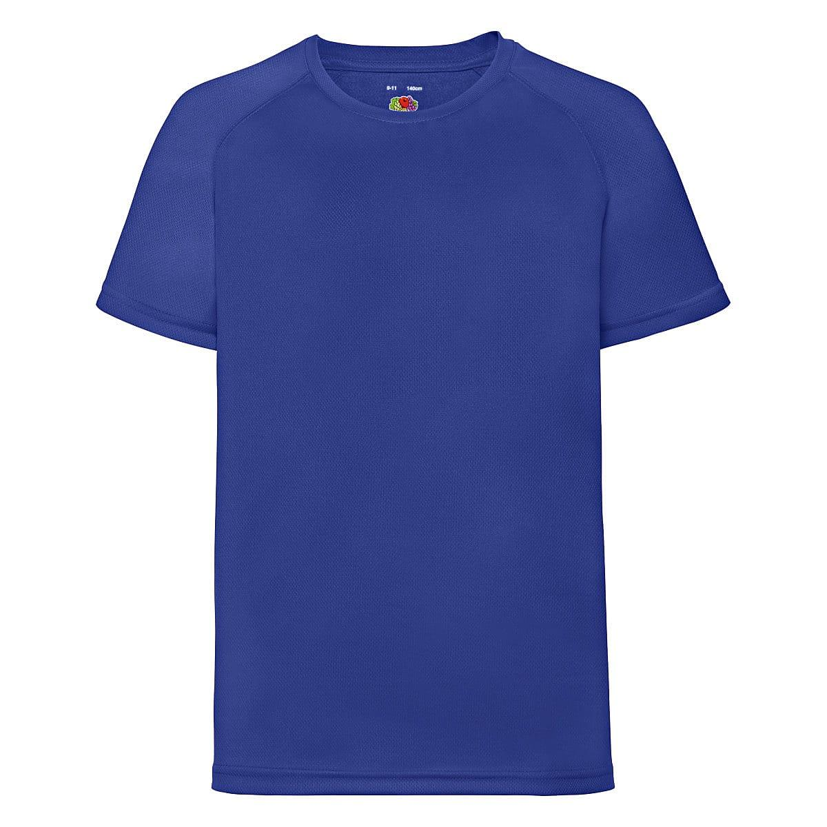 Fruit Of The Loom Childrens Kids Performance T-Shirt in Royal Blue (Product Code: 61013)