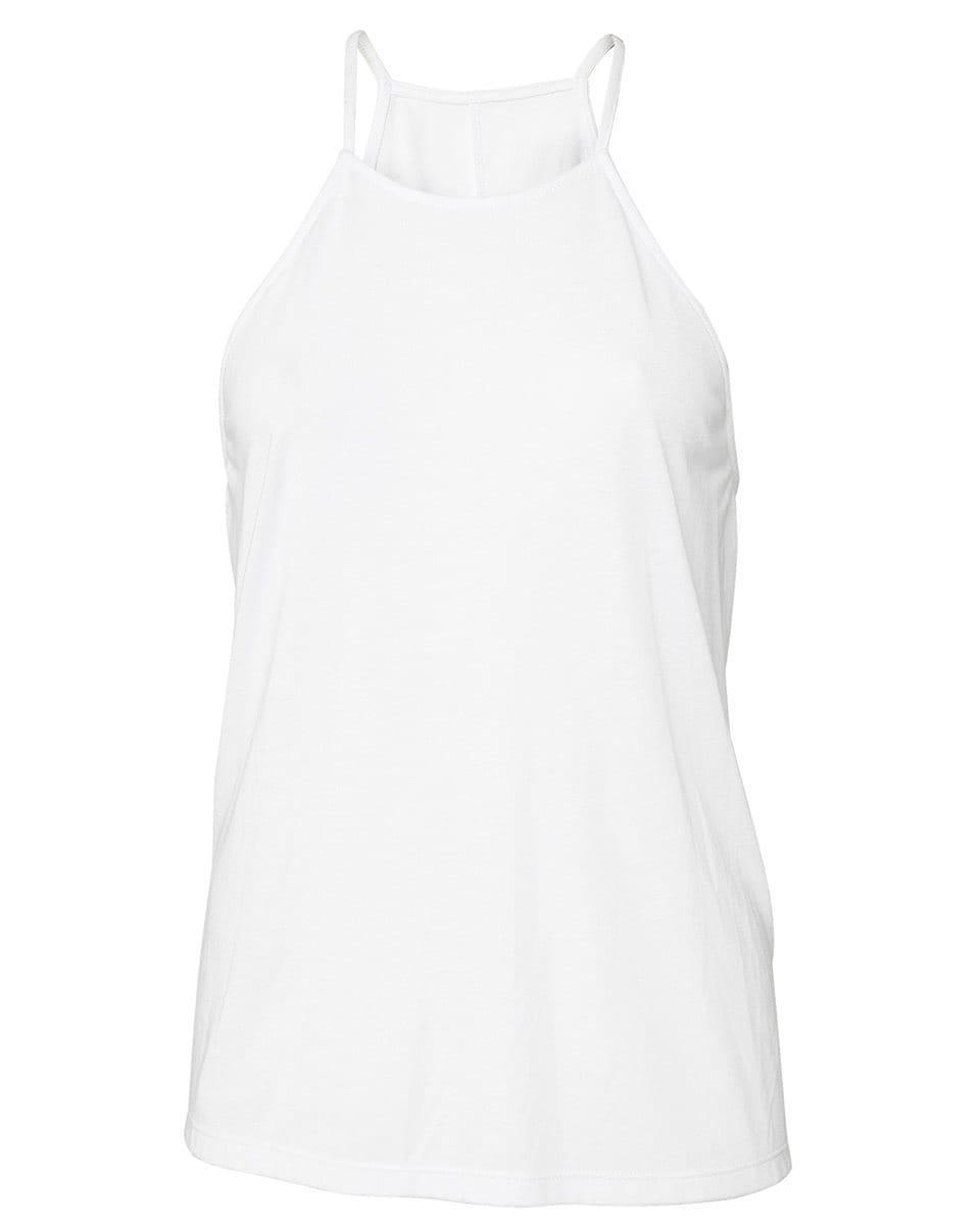 Bella Flowy High Neck Tank in White (Product Code: BE8809)