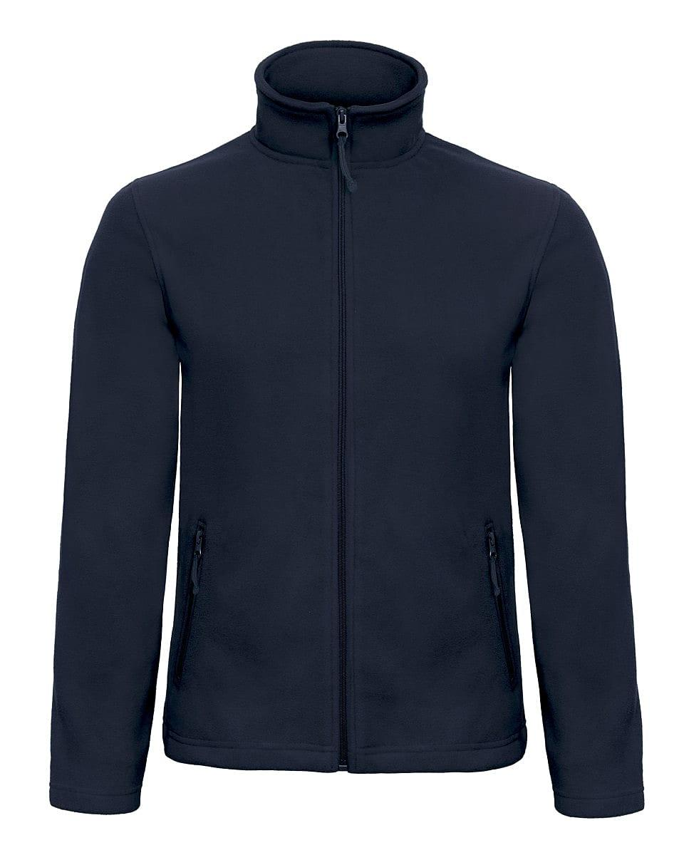 B&C Mens ID.501 Fleece Jacket in Navy Blue (Product Code: FUI50)