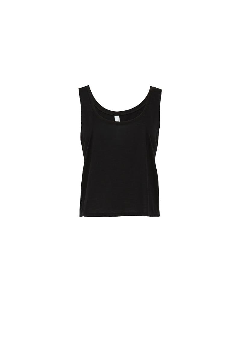Bella Womens Flowy Boxy Tank in Black (Product Code: BE8880)