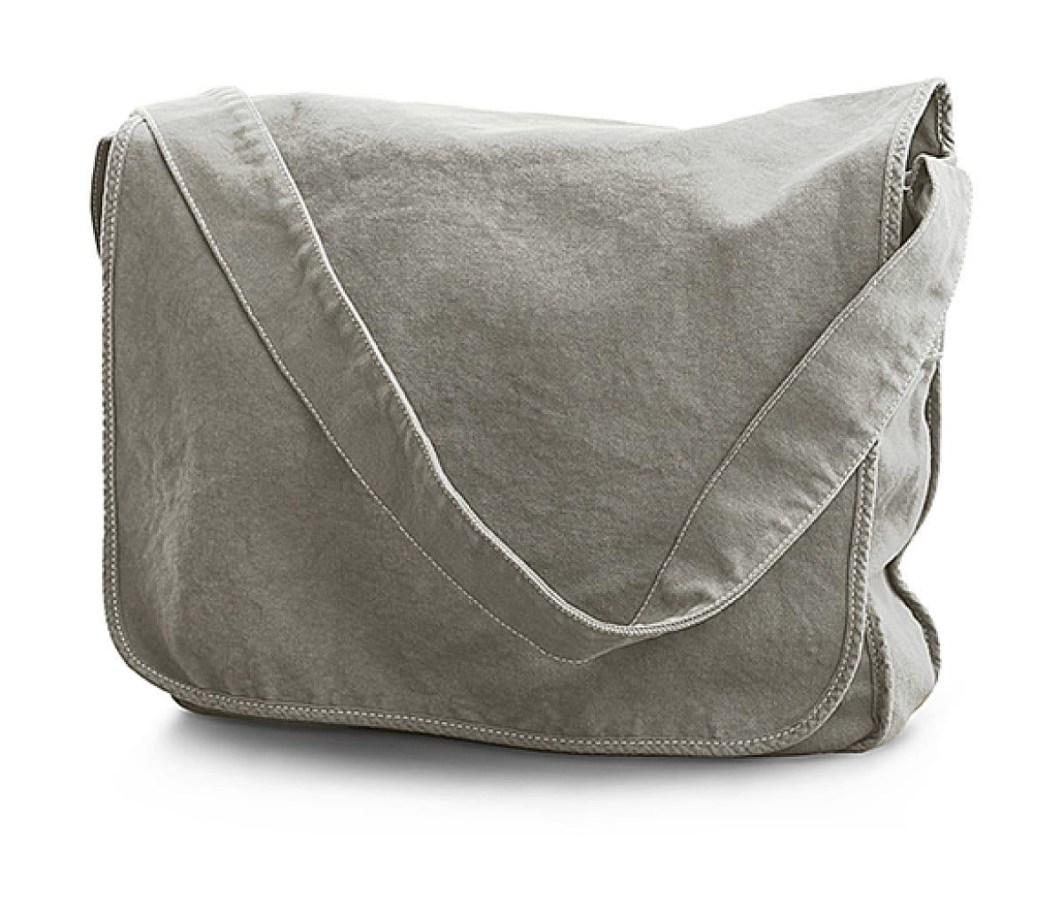 Jassz Bags Canvas Messenger Bag in Neutral Grey (Product Code: CA37309MB)