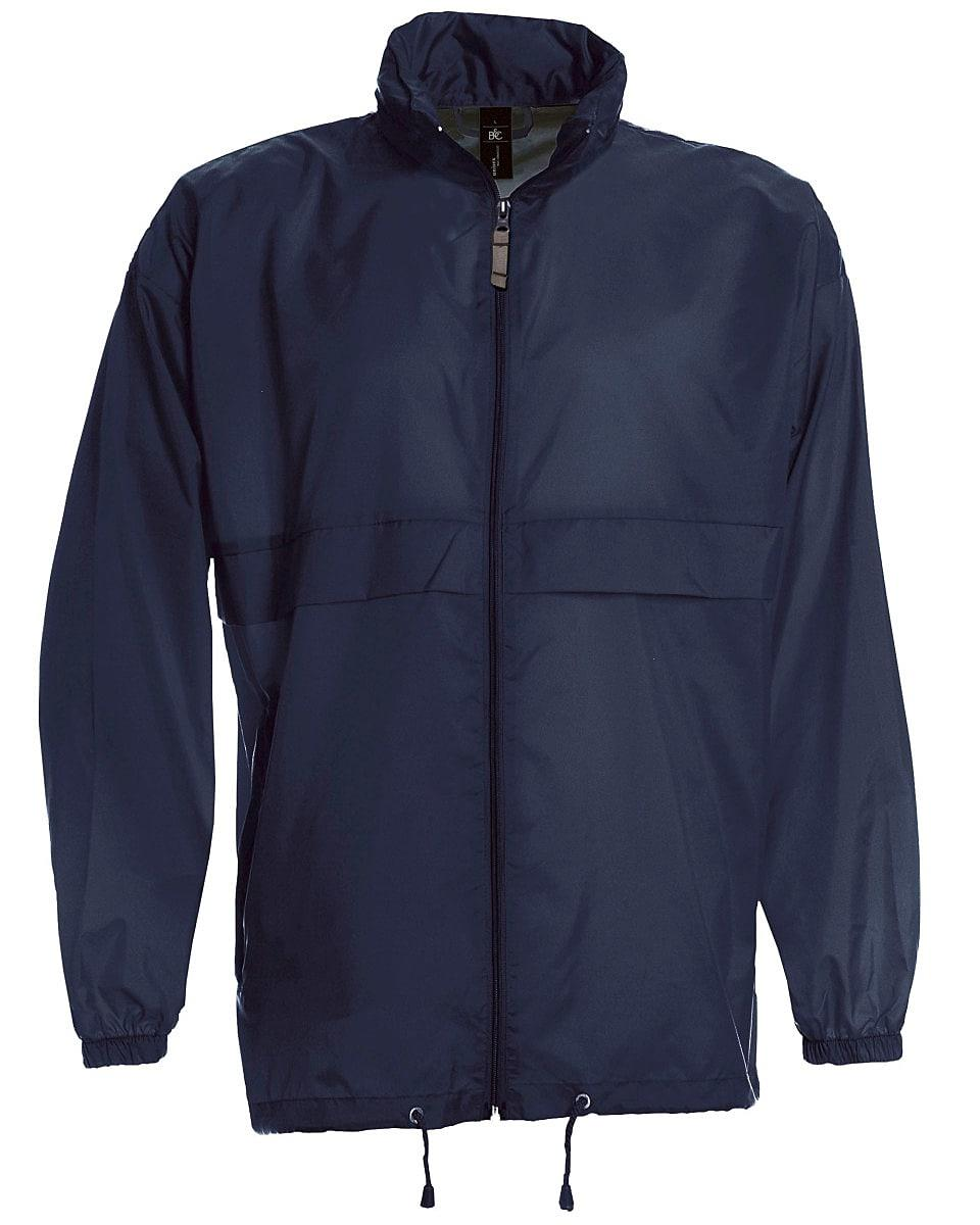 B&C Mens Sirocco Lightweight Jacket in Navy Blue (Product Code: JU800)