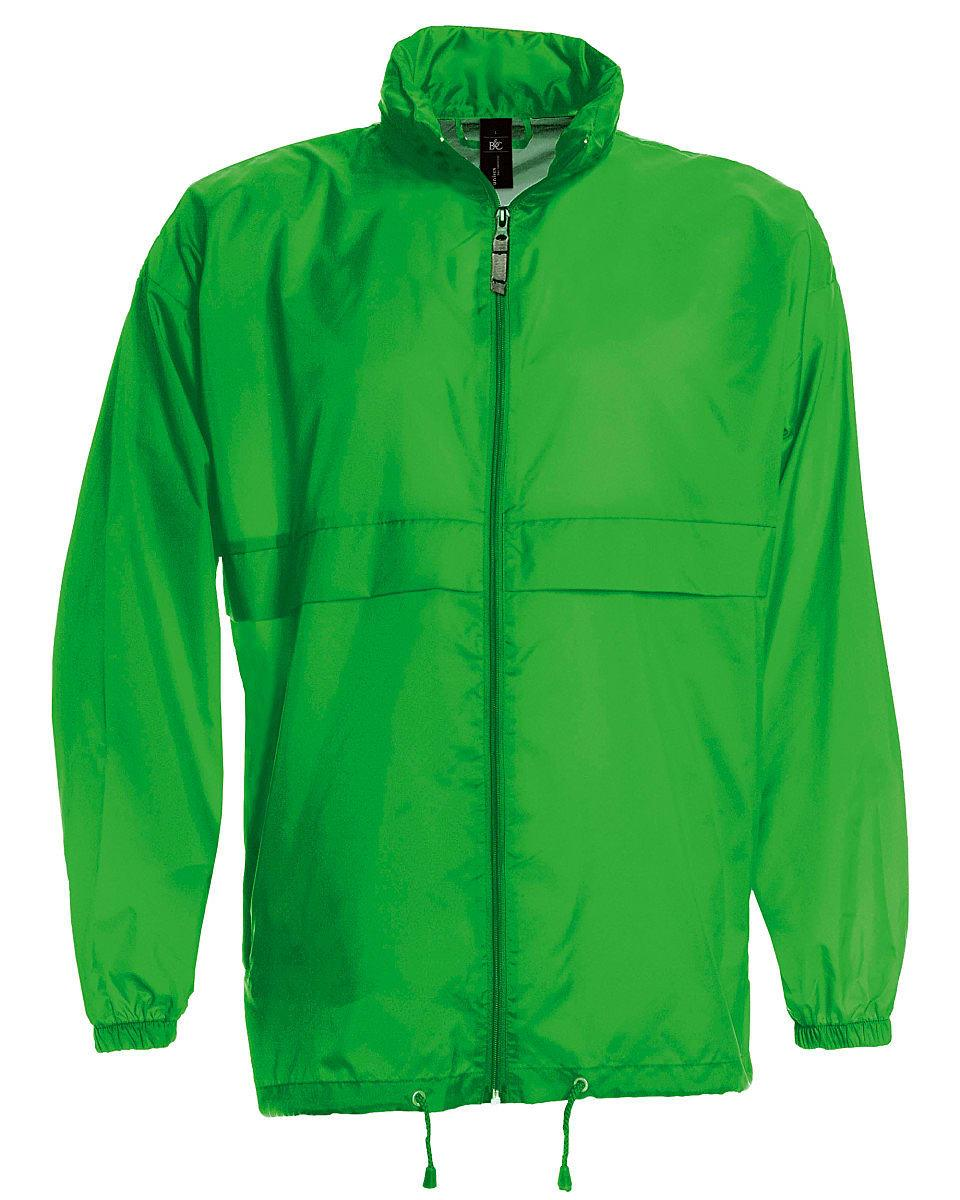 B&C Mens Sirocco Lightweight Jacket in Real Green (Product Code: JU800)
