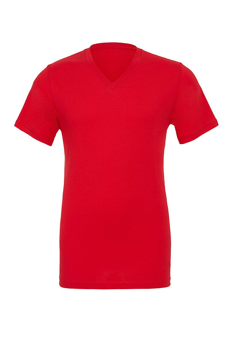 Bella Canvas Mens Jersey Short-Sleeve Vneck T-Shirt in Red (Product Code: CA3005)