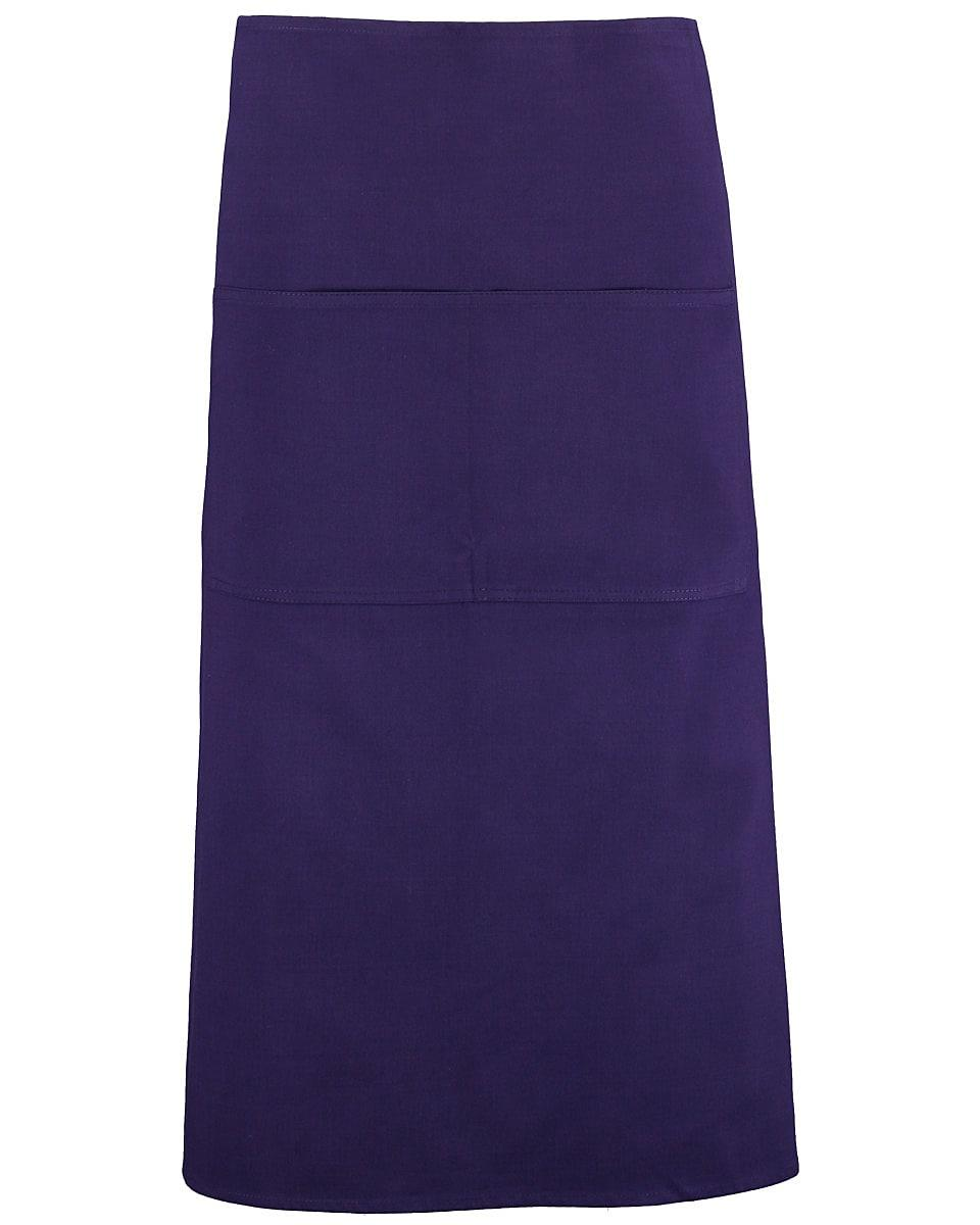 Bargear Unisex Long Bar Apron in Purple (Product Code: KK514)