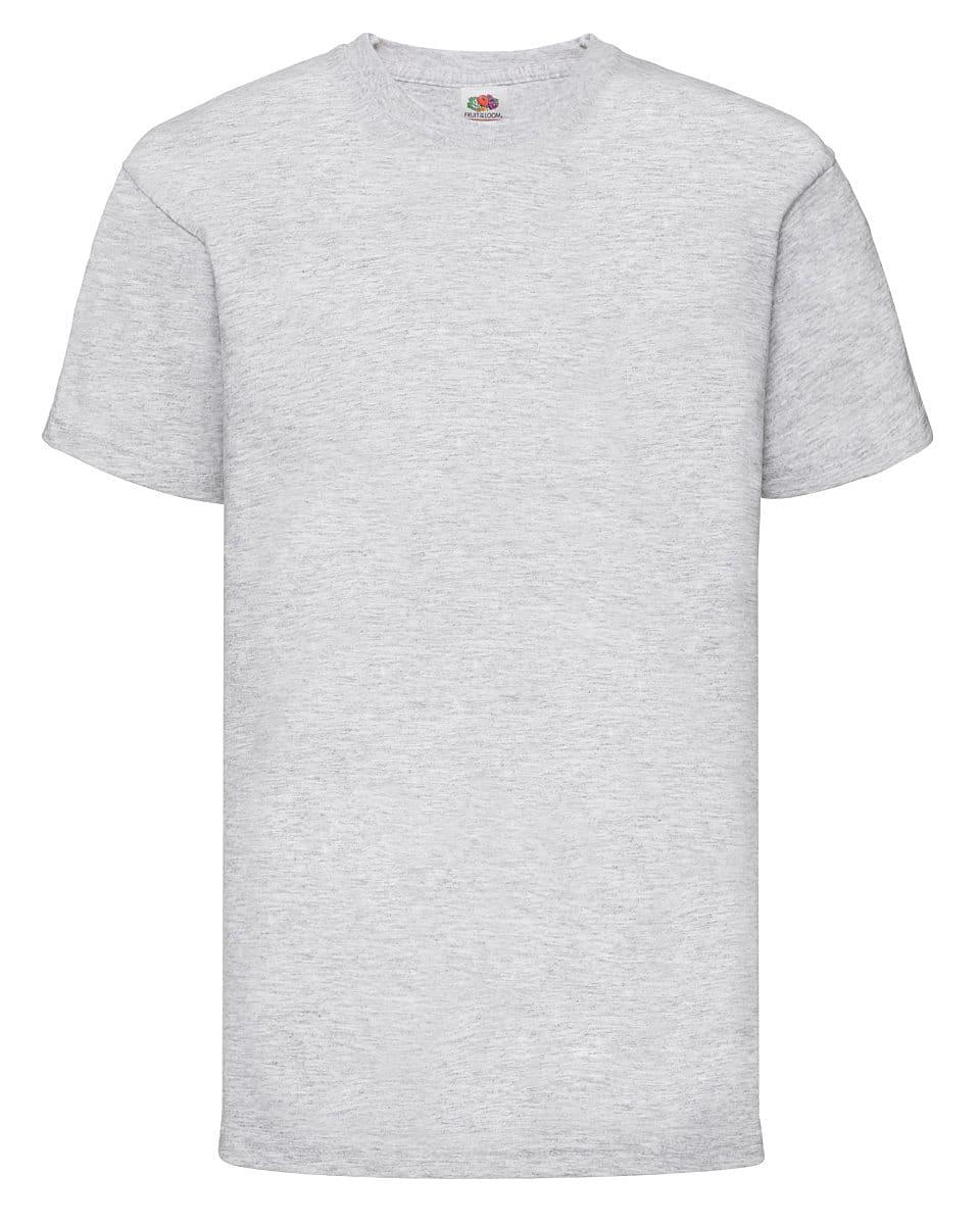 Fruit Of The Loom Childrens Valueweight T-Shirt in Heather Grey (Product Code: 61033)