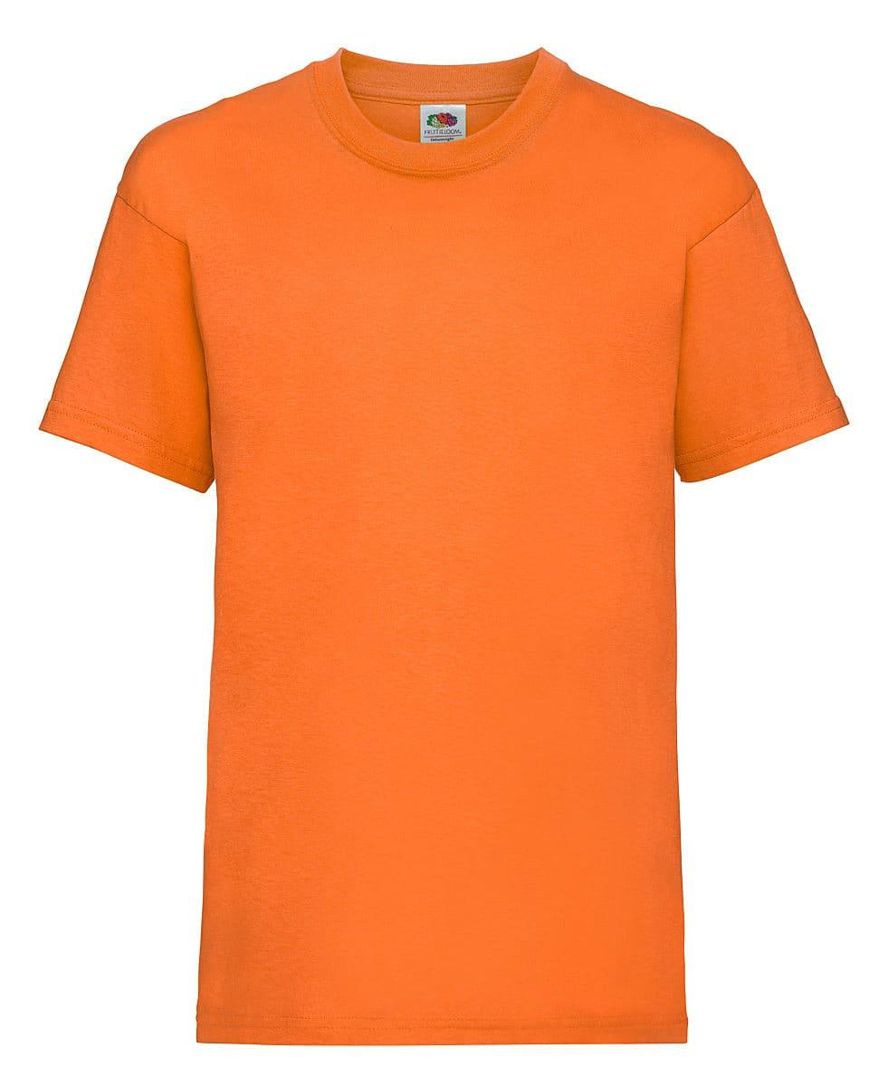 Fruit Of The Loom Childrens Valueweight T-Shirt in Orange (Product Code: 61033)