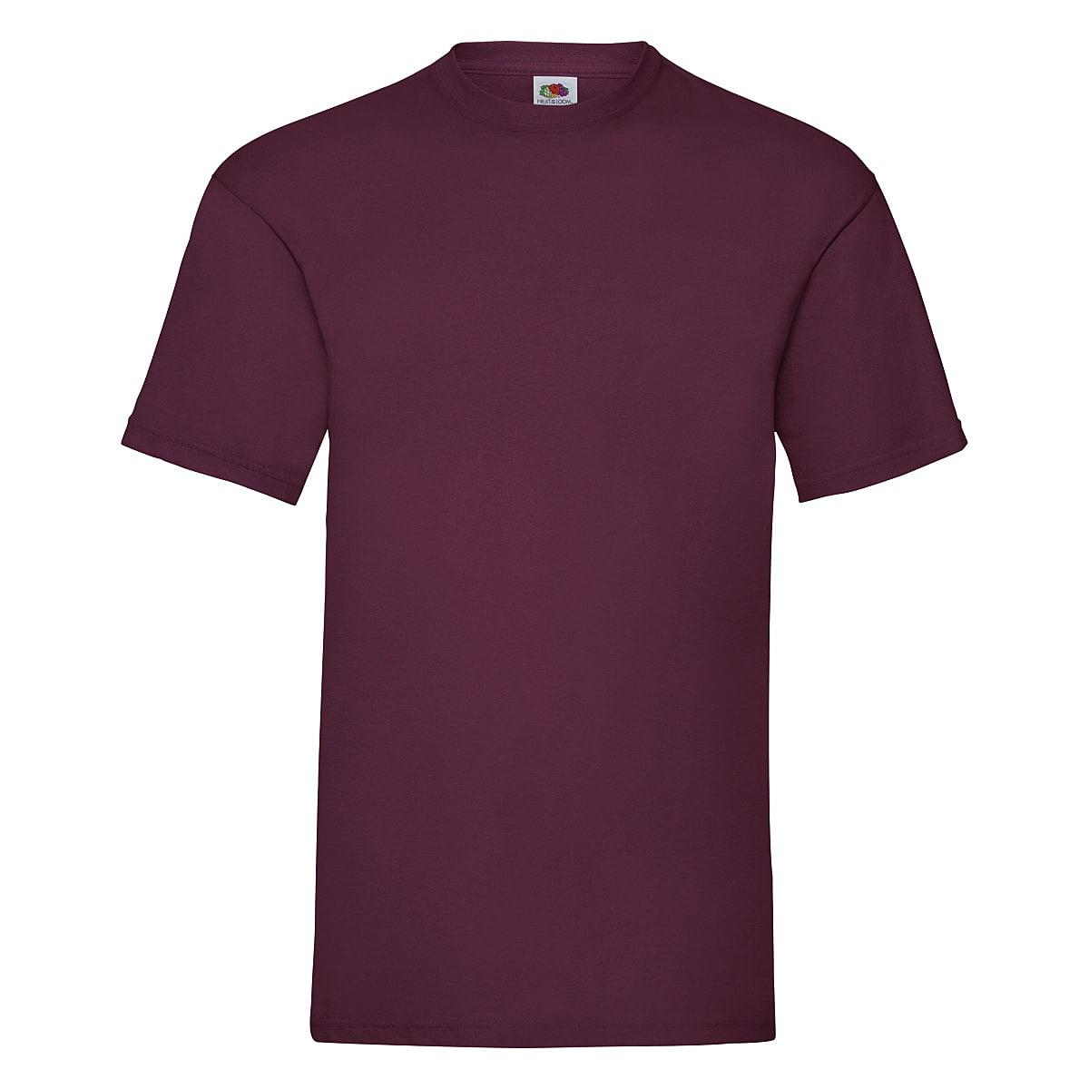 Fruit Of The Loom Valueweight T-Shirt in Burgundy (Product Code: 61036)