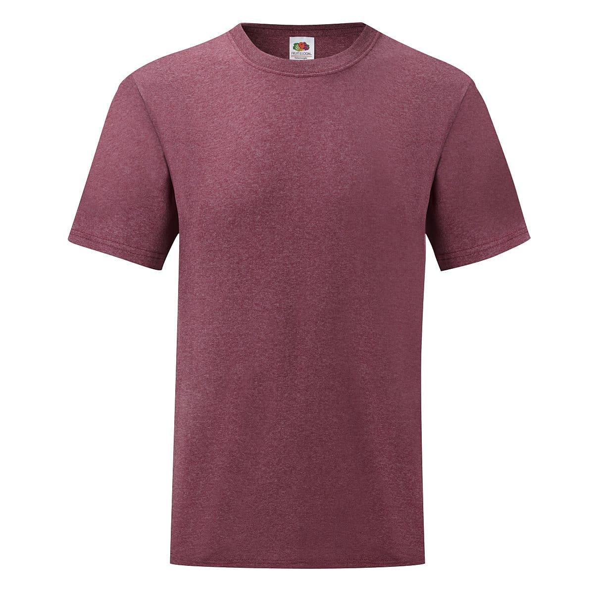Fruit Of The Loom Valueweight T-Shirt in Heather Burgundy (Product Code: 61036)