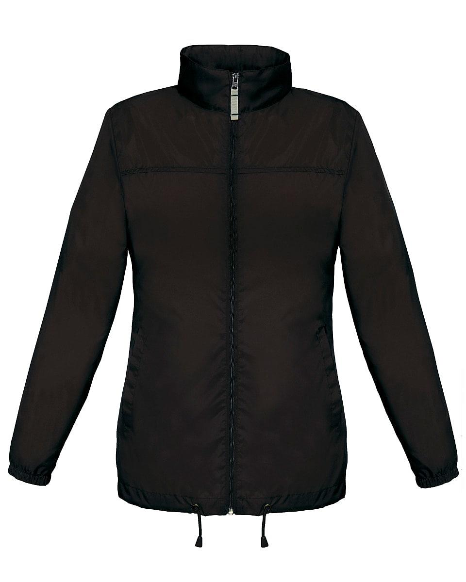 B&C Womens Sirocco Lightweight Jacket in Black (Product Code: JW902)