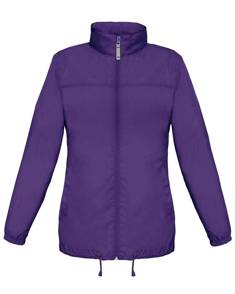B&C Womens Sirocco Lightweight Jacket in Purple (Product Code: JW902)