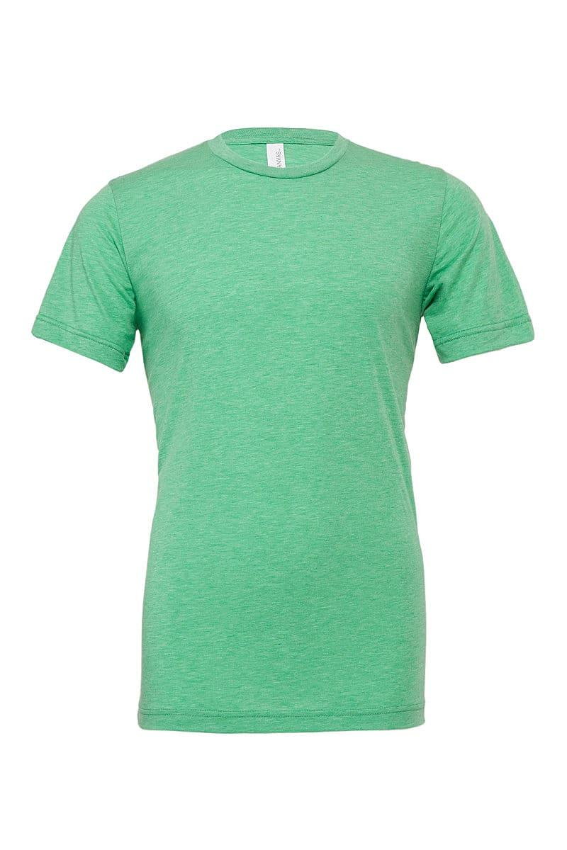 Bella Canvas Mens Tri-blend Short-Sleeve T-Shirt in Green Triblend (Product Code: CA3413)