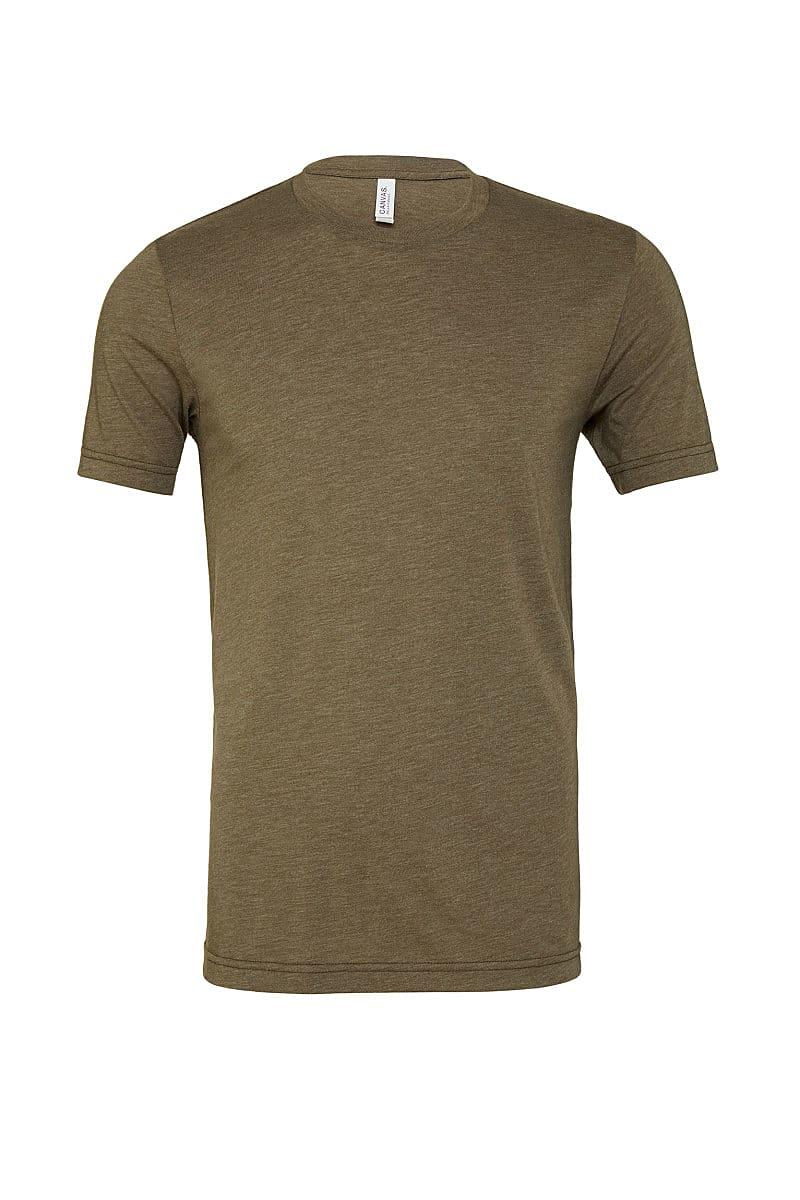 Bella Canvas Mens Tri-blend Short-Sleeve T-Shirt in Olive Triblend (Product Code: CA3413)