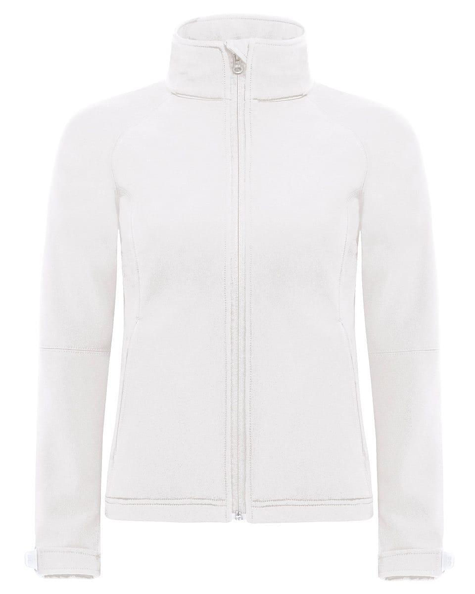 B&C Womens Hooded Softshell Jacket in White (Product Code: JW937)