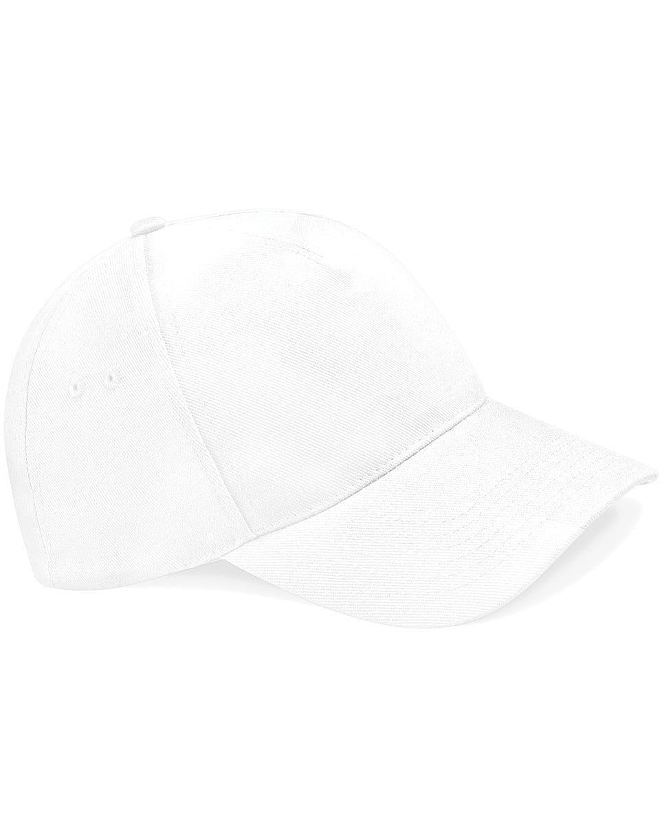 Beechfield Ultimate 5 Panel Cap in White (Product Code: B15)