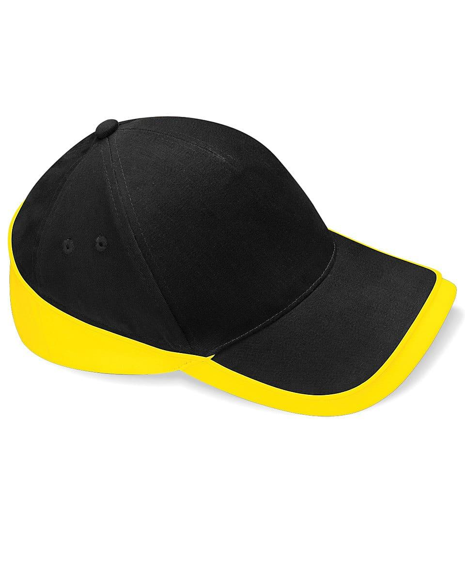 Beechfield Teamwear Competition Cap in Black / Yellow (Product Code: B171)