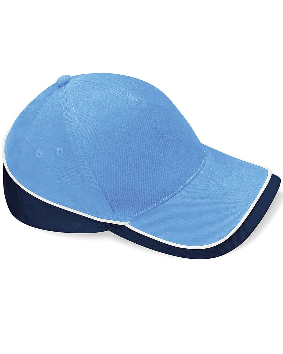 Beechfield Teamwear Competition Cap in Sky / French Navy / White (Product Code: B171)