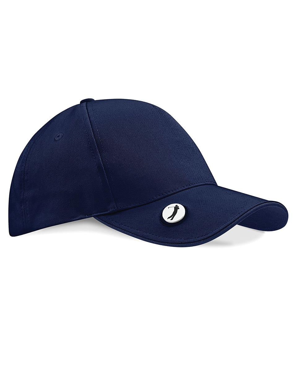 Beechfield Golf Ball Marker Cap in French Navy (Product Code: B185)