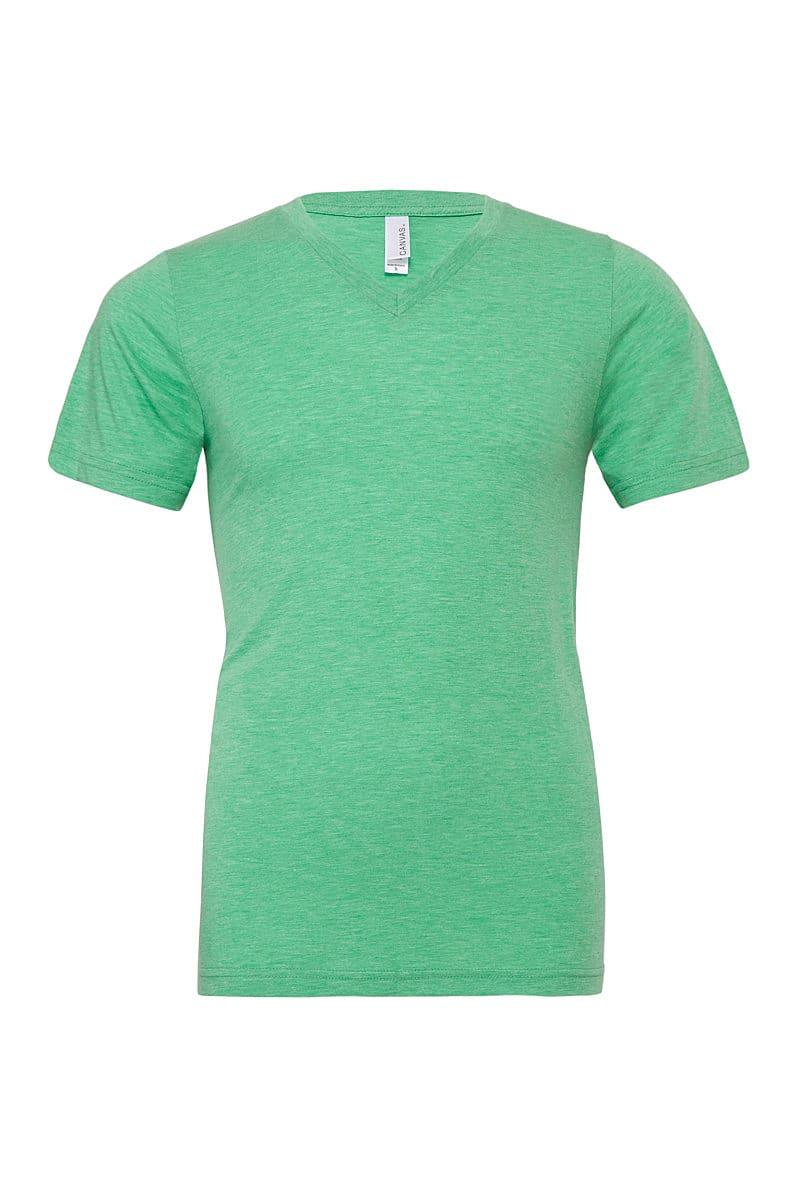 Bella Triblend V-Neck T-Shirt in Green Triblend (Product Code: CA3415)