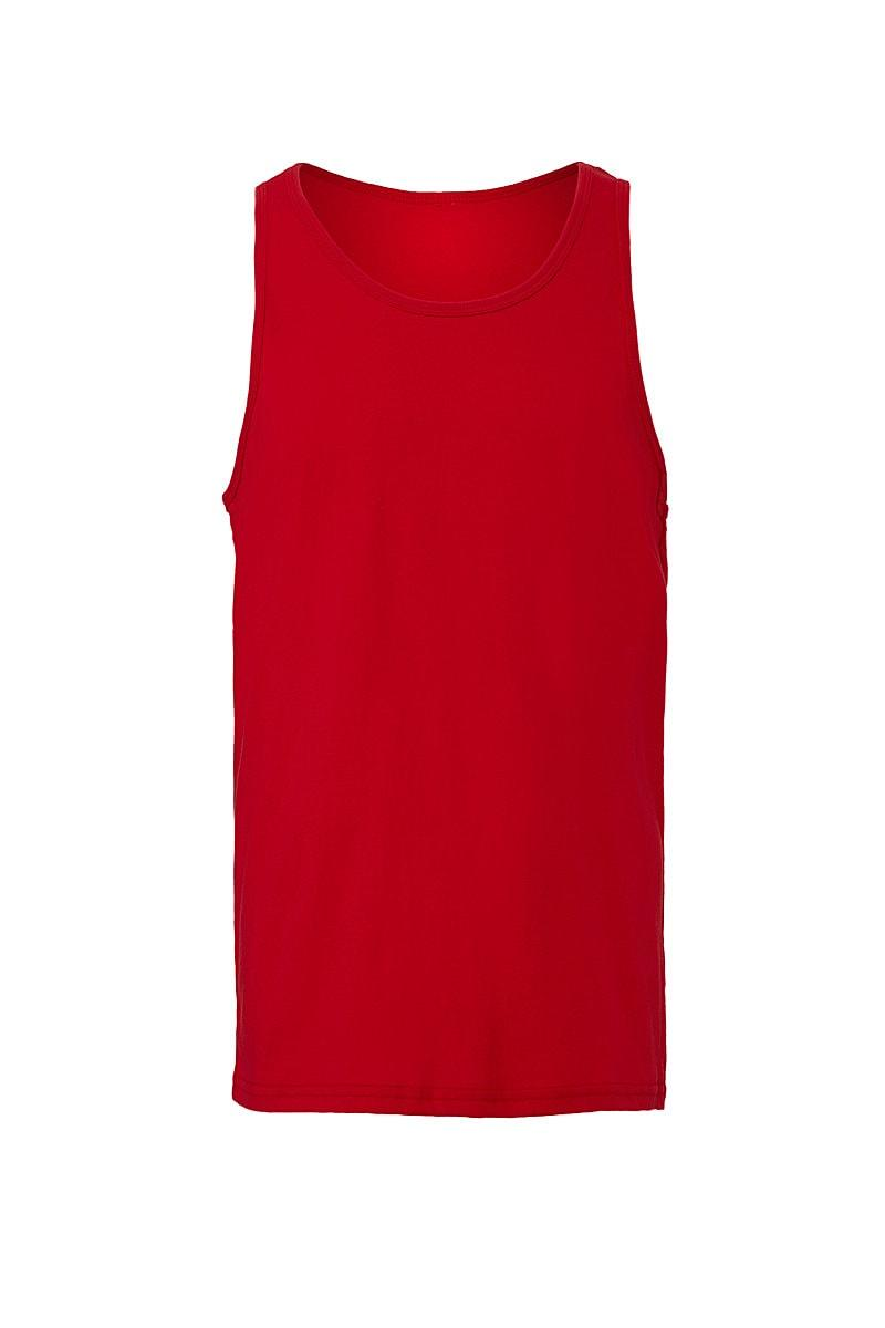 Bella Unisex Jersey Tank in Red (Product Code: CA3480)