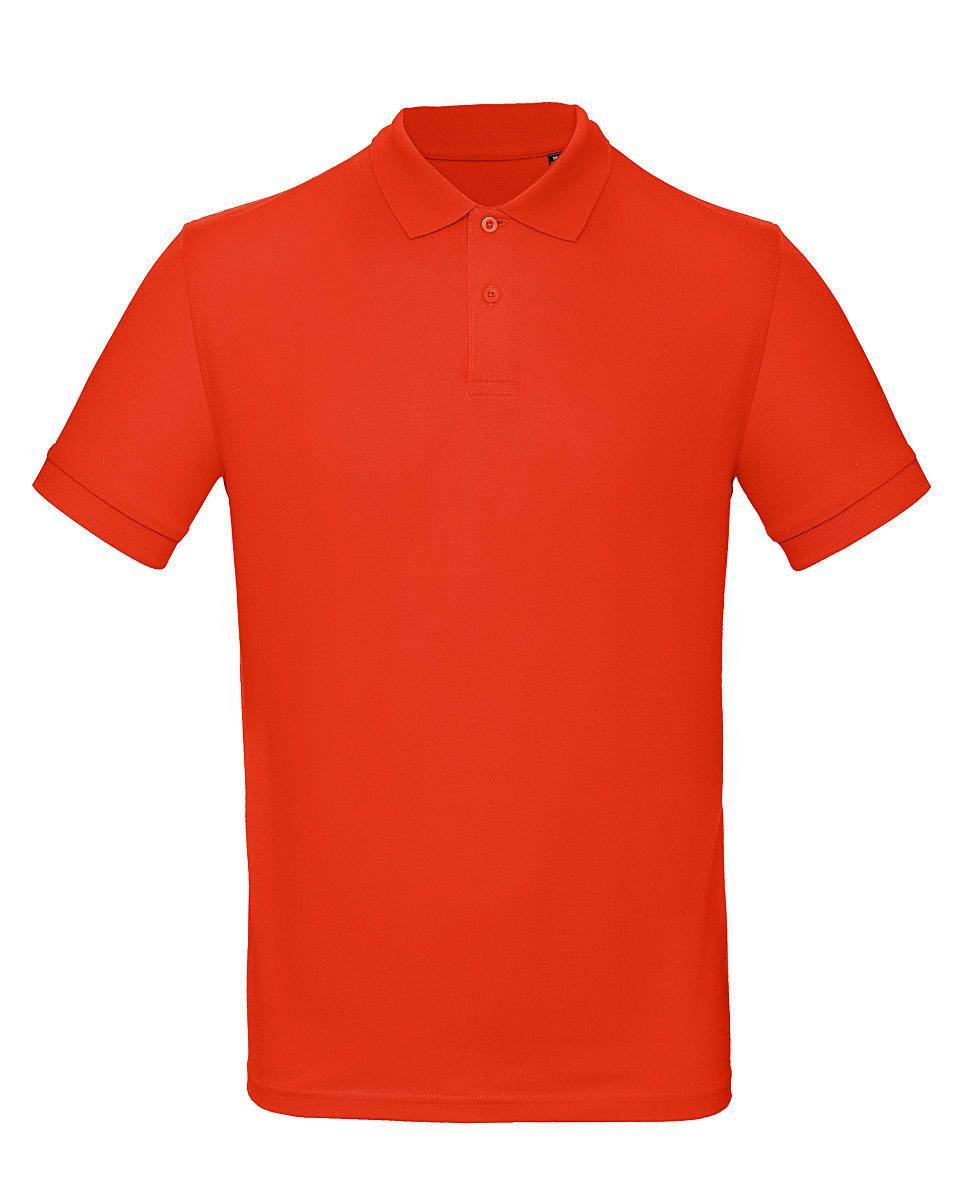 B&C Mens Inspire Polo Shirt in Fire Red (Product Code: PM430)