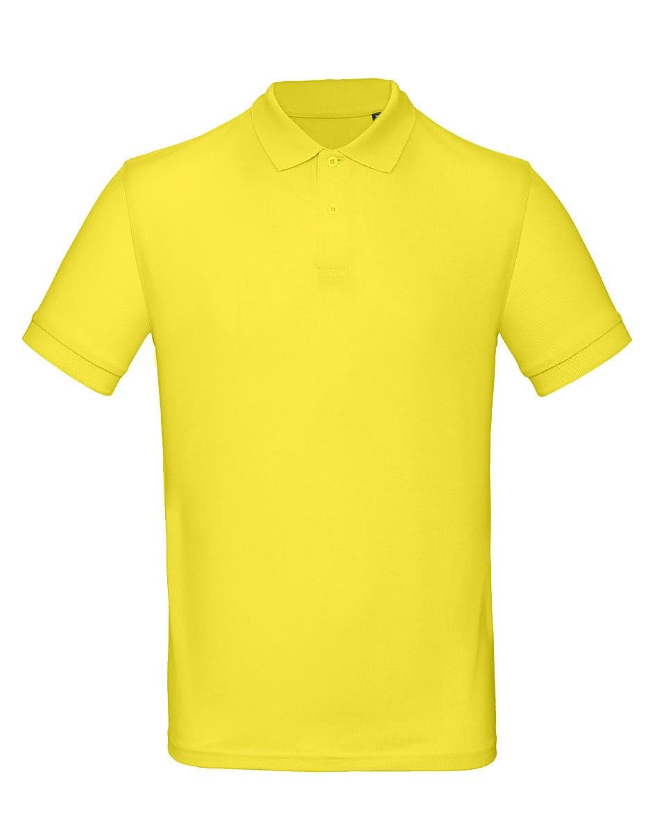 B&C Mens Inspire Polo Shirt in Solar Yellow (Product Code: PM430)