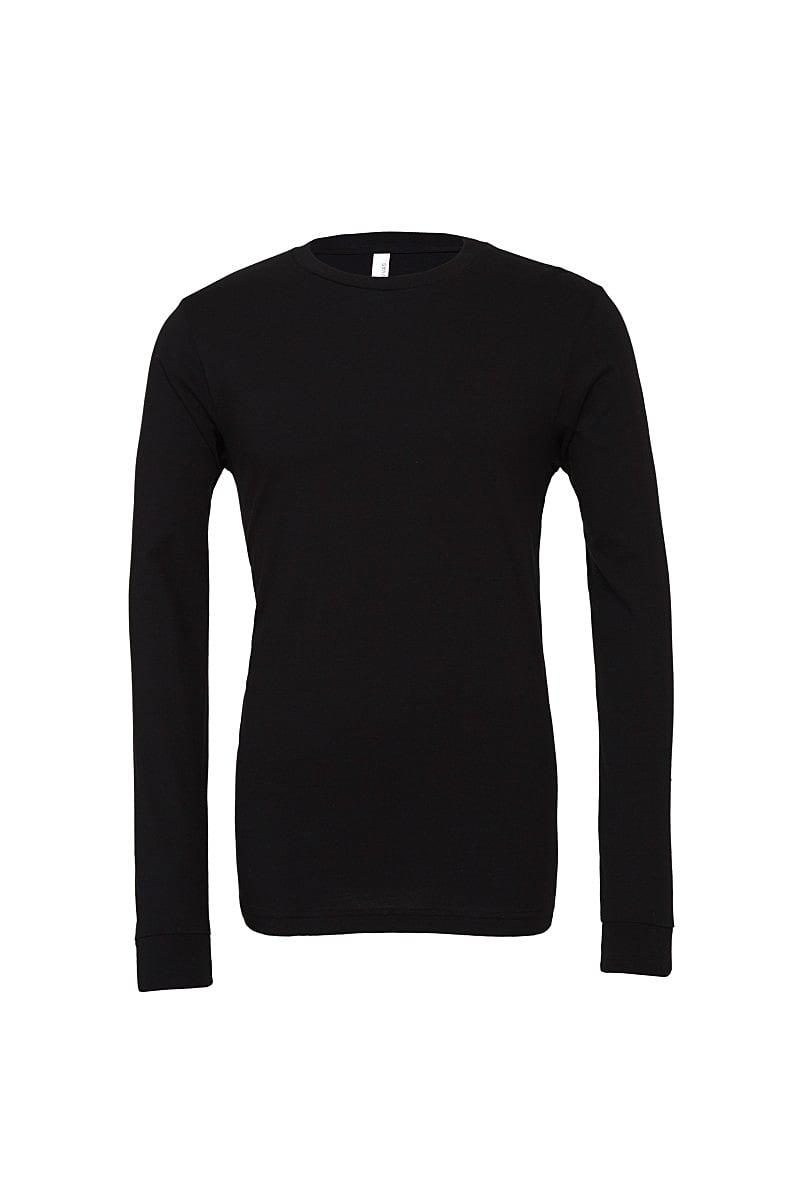 Bella Unisex Jersey Long-Sleeve T-Shirt in Black (Product Code: CA3501)