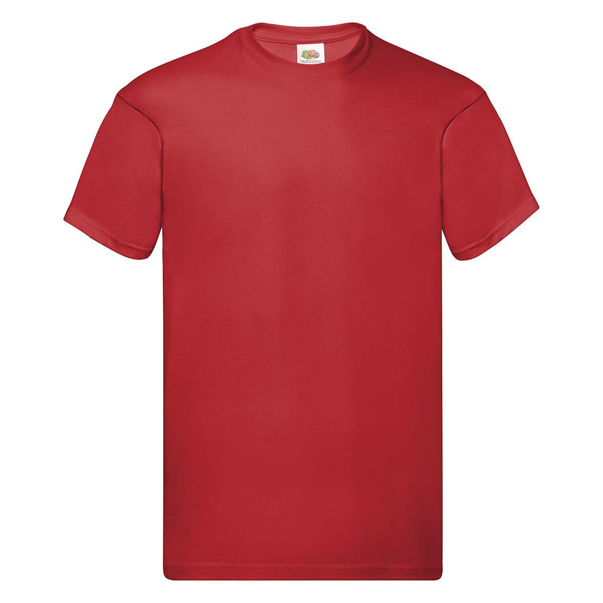 Fruit Of The Loom Original Full Cut T-Shirt in Red (Product Code: 61082)