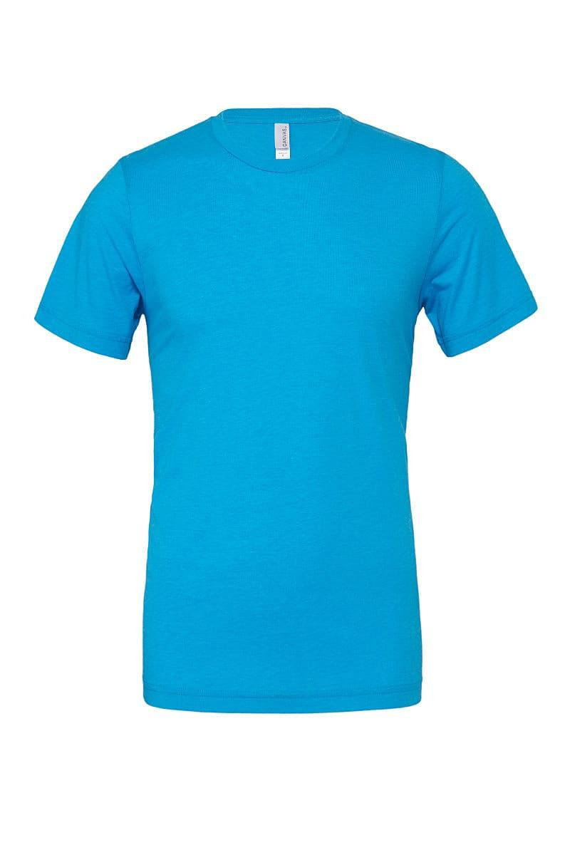 Bella Canvas Unisex Poly-Cotton Short-Sleeve T-Shirt in Neon Blue (Product Code: CA3650)