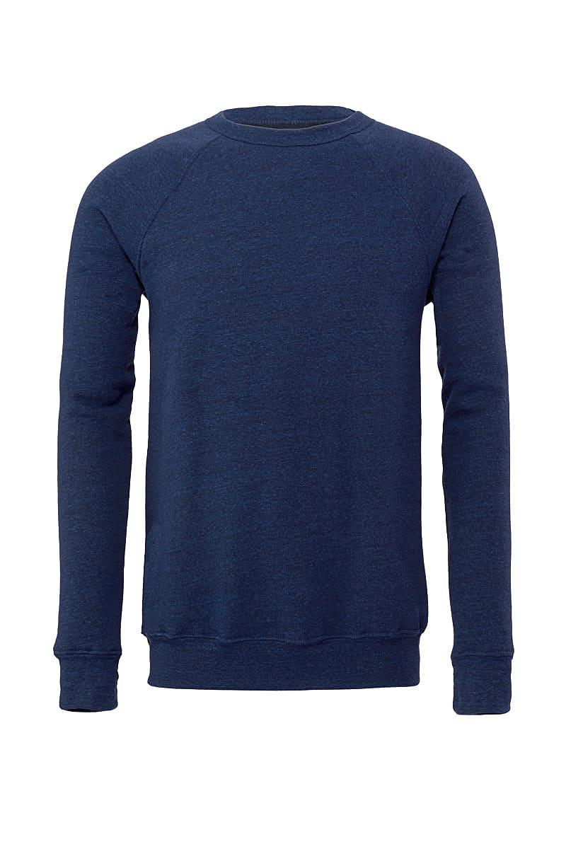 Bella Canvas Unisex Sponge Fleece Raglan Sweater in Navy Triblend (Product Code: CA3901)