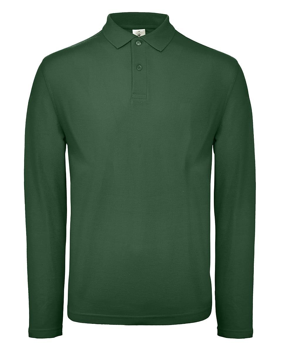 B&C Mens ID.001 Long-Sleeve Polo Shirt in Bottle Green (Product Code: PUI12)